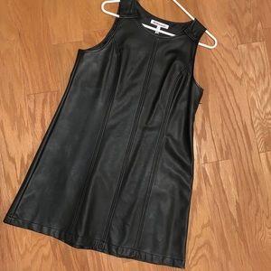 BCBG Black Leather Dress